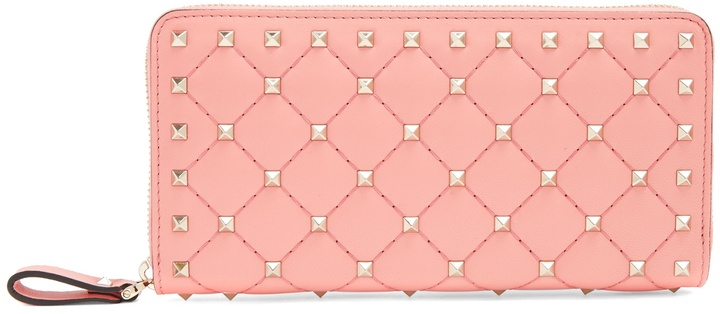 ValentinoVALENTINO Rockstud Spike quilted-leather continental wallet
