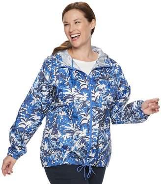 Columbia Plus Size Flash Forward Hooded Windbreaker Jacket