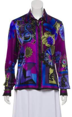 Versace Silk Printed Top