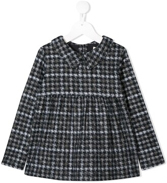Douuod Kids houndstooth print blouse