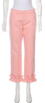 Simone Rocha x J Brand Mid-Rise Ruffle-Accented Jeans w/ Tags