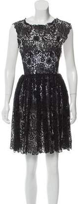 Maria Lucia Hohan Lace Pleated Mini Dress