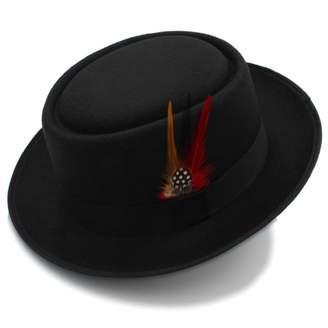 a18ee4ff Bowler Hat, Retro Unisex Wide Brim Round Top Cap, Fedora Porkpie Pork Pie  Bowler