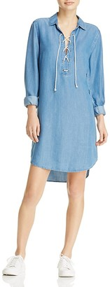 BeachLunchLounge Chambray Lace-Up Shirt Dress $78 thestylecure.com