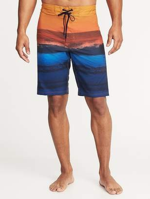 "Old Navy Built-In Flex Printed Board Shorts for Men (10"")"