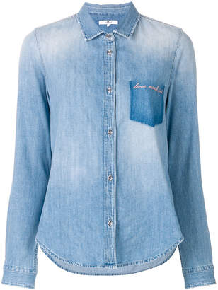 7 For All Mankind love mankind denim shirt