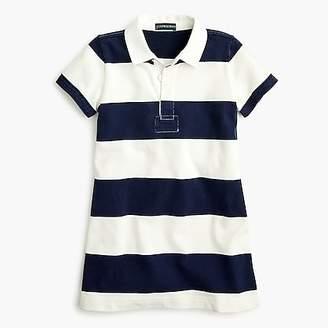 J.Crew Girls' short-sleeved rugby shirtdress in navy stripes
