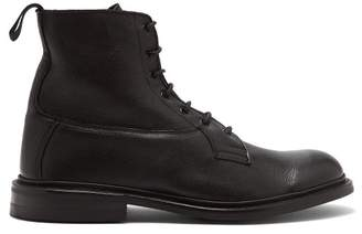 Tricker's Burford Leather Derby Boots - Mens - Black