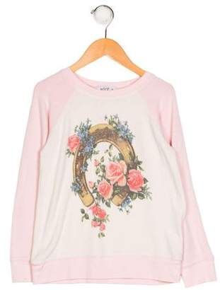 Wildfox Couture Girls' Printed Knit Sweater
