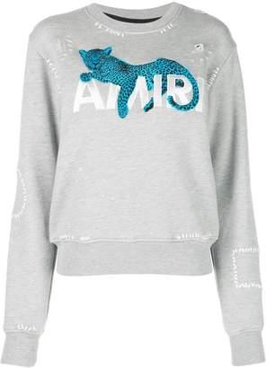 Amiri embroidered logo sweatshirt