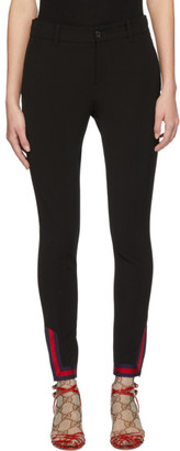 Gucci Black Web Leggings