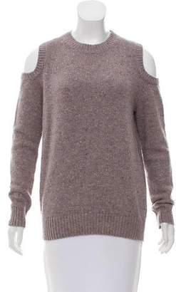 Rebecca Minkoff Cold-Shoulder Wool Sweater