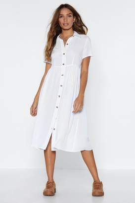 Nasty Gal Button the Look Out Oversized Dress
