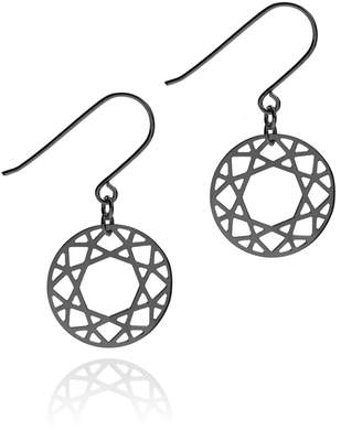 Myia Bonner Black Brilliant Diamond Drop Earrings