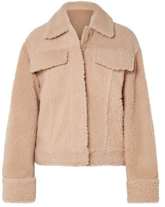 Kenzo Trucker Reversible Shearling Jacket - Beige