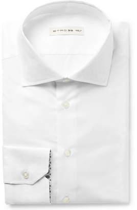 Etro White Slim-Fit Cotton Shirt