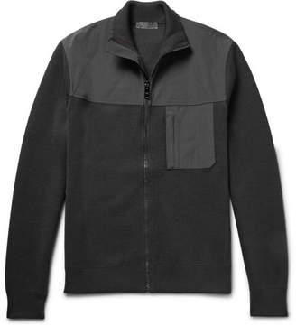 Prada Shell-Trimmed Virgin Wool Zip-Up Sweater