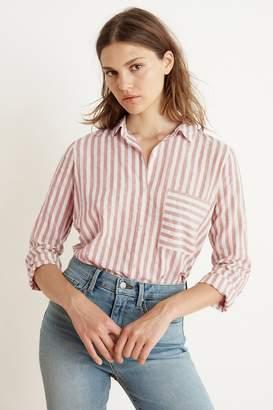 74583a108bf4 Velvet by Graham & Spencer Velvet By Graham Spencer Tammy Stripe Woven Long  Sleeve Button-