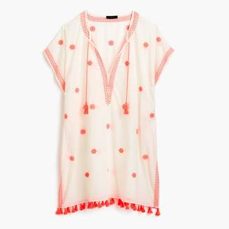 J.Crew Embroidered Indian cotton beach tunic