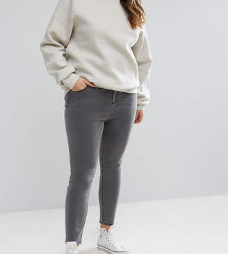Asos DESIGN Curve Ridley high waist skinny jeans in slated grey