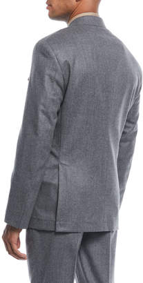 Brunello Cucinelli Men's Flannel Wool Two-Piece Suit