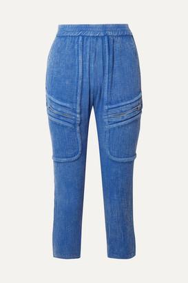 Playa Paradised Cotton-gauze Tapered Pants - Blue
