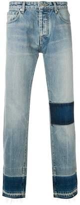 Ambush contrast panel straight jeans