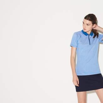 Lacoste (ラコステ) - テクニカルジャージー ジップネック ゴルフ ポロシャツ (半袖)