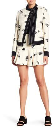 Derek Lam 10 Crosby Flared Patterned Skirt