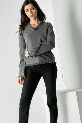 THML Clothing Fringe Sweater
