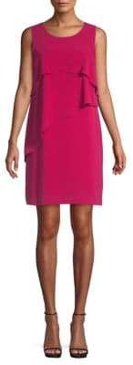 Vince Camuto Zen Bloom Asymmetrical Ruffle Dress