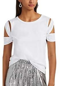 Helmut Lang Women's Cutout-Sleeve Cotton T-Shirt - White