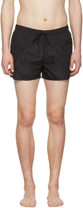 Fendi Black Logo Swim Shorts $340 thestylecure.com