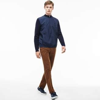 Lacoste Men's Slim Fit Pleated Stretch Gabardine Chino Pants