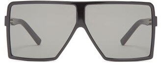 Saint Laurent Betty Flat Top Acetate Sunglasses - Womens - Black