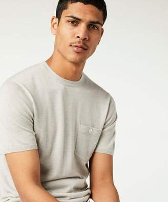 Todd Snyder Short Sleeve Cashmere T-Shirt Sweater in Grey Heather