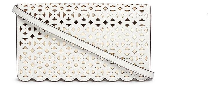 MICHAEL Michael KorsMichael Kors 'Desi' large floral perforated leather crossbody bag