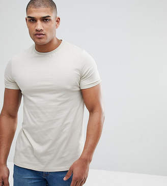 BEIGE Asos Design ASOS TALL T-Shirt With Crew Neck In