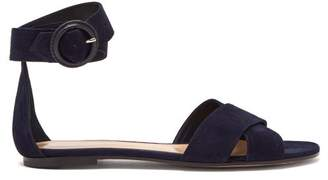 Gianvito Rossi Aiden Suede Sandals - Womens - Navy