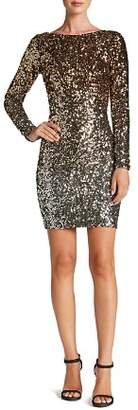 Dress the Population Lola Long-Sleeve Sequin Dress