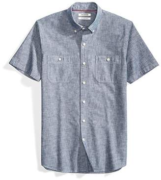 Goodthreads Men's Slim-Fit Short-Sleeve Chambray Shirt