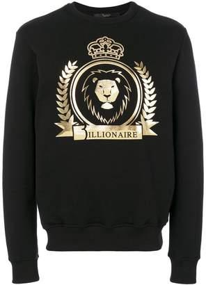 Billionaire lion crest emblem sweatshirt