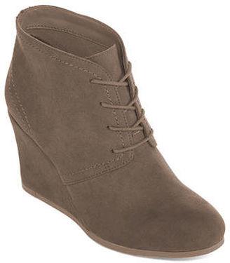 ARIZONA Arizona Lacie Wedge Ankle Booties $29.99 thestylecure.com