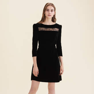 Maje Velvet and lace dress