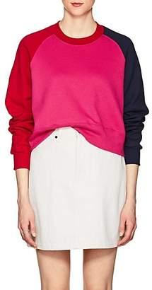 56ac2ae3 Cédric Charlier Women's Colorblocked Cotton Fleece Sweatshirt - Fushia
