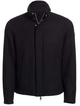 Emporio Armani Regular-Fit Wool-Blend Shirt Jacket