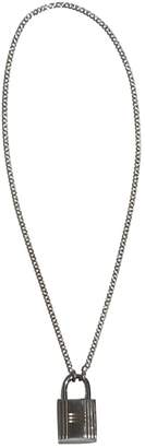 Hermes Silver Silver Long Necklace