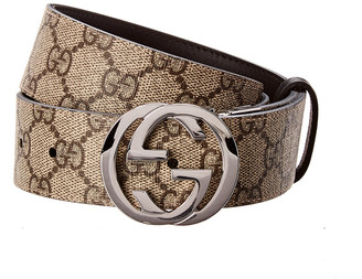 Gucci Reversible Gg Supreme Canvas & Leather Belt