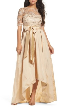 Women's Adrianna Papell Sequin Lace & Taffeta Ballgown $219 thestylecure.com