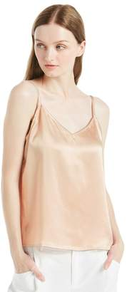 LilySilk 22MM V Neck Front and Back Silk Camisole with Straps Tank Top Shirt Set-XXL